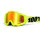 100% Accuri Goggle Anti Fog Mirror Lens / flue/yellow